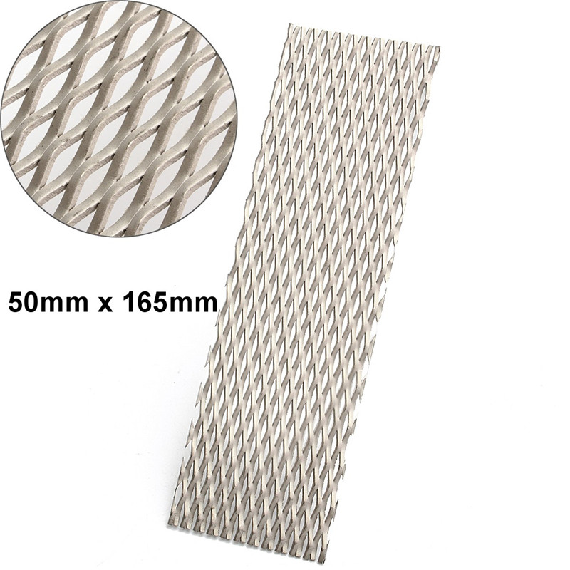 50mm x 165mm Recycled Metal Titanium Mesh Sheet Electrode for Electrolysis 1pc recycled metal titanium mesh sheet with corrosion resistance 50mmx165mm electrode for electrolysis
