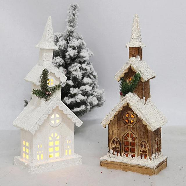 LED Christmas Decoration Wooden For Home Christmas Ornament Craft ...