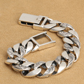 Handmade 925 silver chain bracelet man bracelet vintage thai silver male bracelet punk jewelry gift