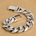 Hechos a mano 925 cadena de plata pulsera hombre pulsera de plata tailandés vintage punk regalo de la joyería