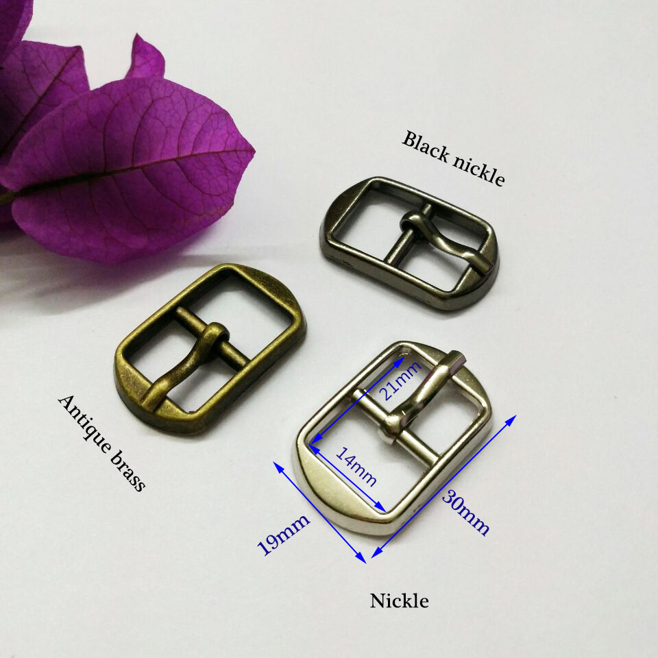 Wholesale 60pcs/lot metal 14mm shoe buckle with pin alloy belt buckle silver/bronze high polished buckle free shipping