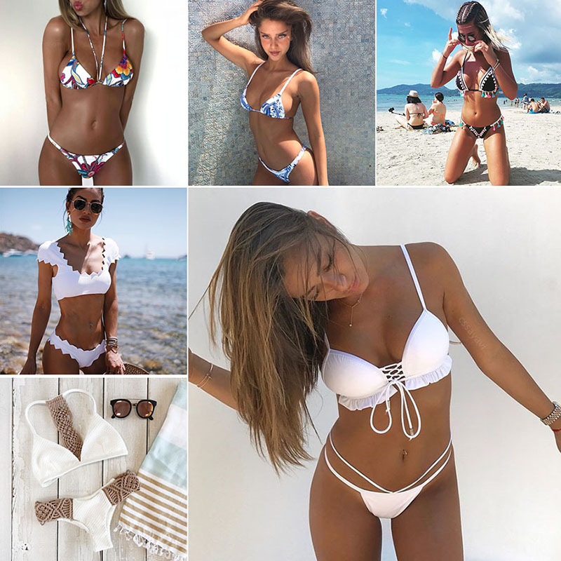 Maillot de bain femme Cssayavi biquíni set 2017 swimwear mulheres swimsuit sexy bandage biquini maiô desgaste mulheres praia