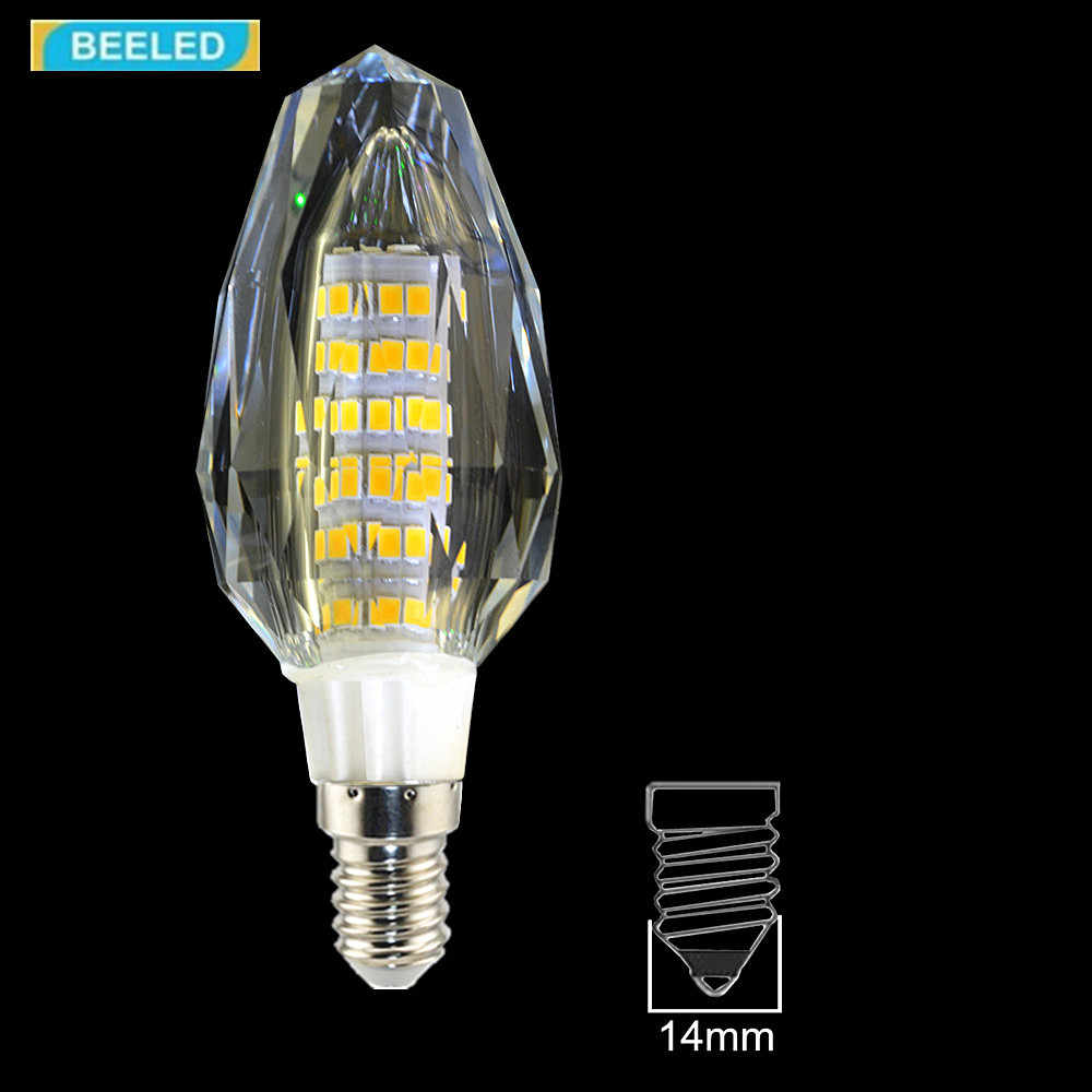 3 قطعة/الوحدة كريستال LED لمبة مصباح E14 5 واط 7 واط ضوء لمبة مصابيح 220 فولت كريستال مصباح الثريا غرفة المعيشة المنزلي إضاءة موفرة للطاقة