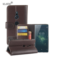 Genuine Cow Leather Case For Sony Xperia XZ2 Cover Phone Bag Shell KLAIDO Phone Accessories Parts