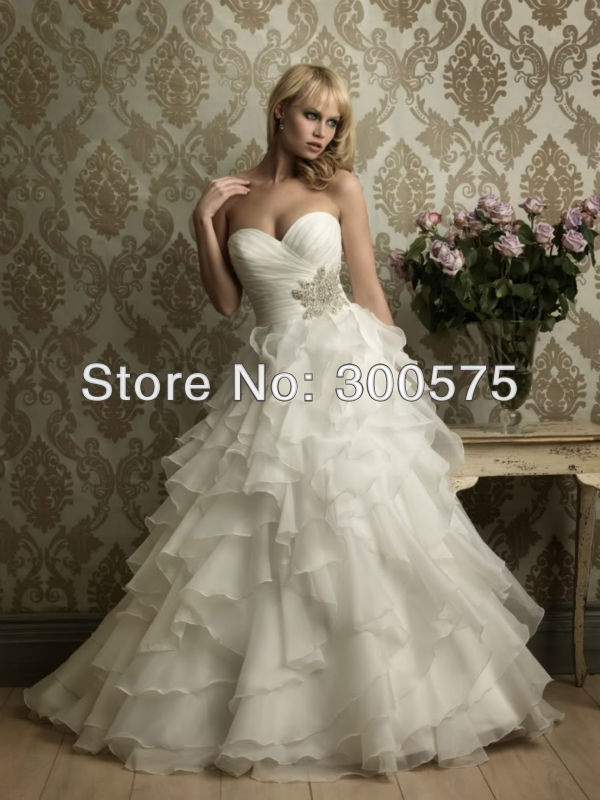 Aliexpress.com : Buy 2013 Hot sale Sexy Strapless Bride Dress ...