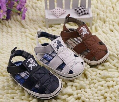 2014 New baby boy sandals polo toddler shoes khaki white ...