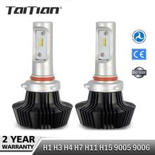 Taitian 2Pcs CSP 55W 8000LM 6500K 12 Volt H1 H3 H7 ledlamp H 11 9005 hb3 LED HB4 Headlight Bulb Car Canbus Auto Fog Light Kit