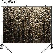 Capisco Gold Bokeh Abstract Glitter Dot Fotografie Achtergronden Cp Voor Selfie Verjaardagsfeestje Foto Achtergrond Studio Booth Schieten