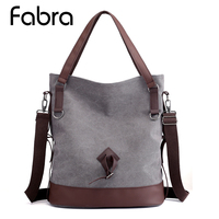 Women Bag Messenger Bags Bucket Female Canvas Handbags High Quality Shoulder Bag Casual Tote Large Capacity Messenger Bag /Gray