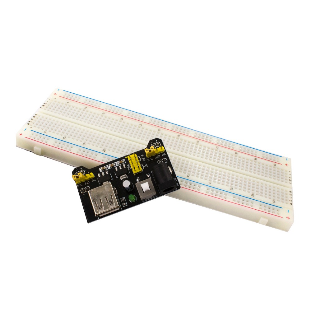 Free shipping MB102 830 Point Solderless PCB Breadboard with 65pcs Jump Cable Wires and Power starter kit