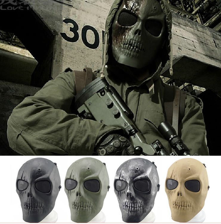 Special Forces CS Cosplay Mask Usa Skull Mask Gunfire Protect Tpu Army Of Two Full