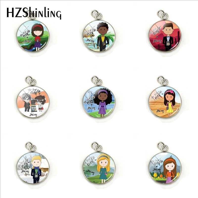 2019 Trendy JW .Org Pendant Stainless Steel Glass Dome Charms Men Woman Jewelry Gifts