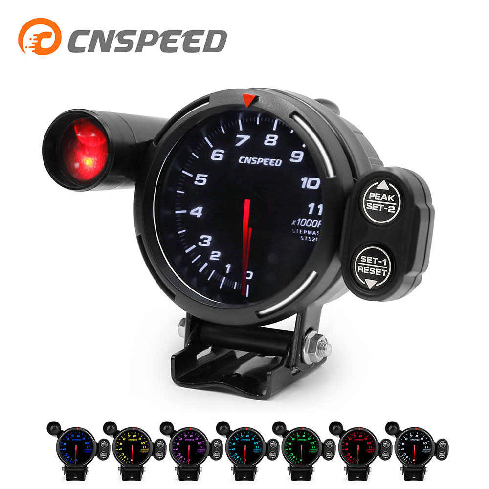 small resolution of cnspeed 80mm tachometer rpm gauge high speed stepper motor 7 colors 0 11000 rpm meter