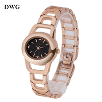 DWG Rose Gold Quartz Watch Ladies Watch Hollow Out Watch Band Fashion Montre Femme Relogio Feminino