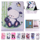 For Coque iPad 2 Case iPad 3 Case iPad 4 Case Cute Panda PU Leather Folio Flip Stand Case Cover for iPad 2 3 4 with Card Slot