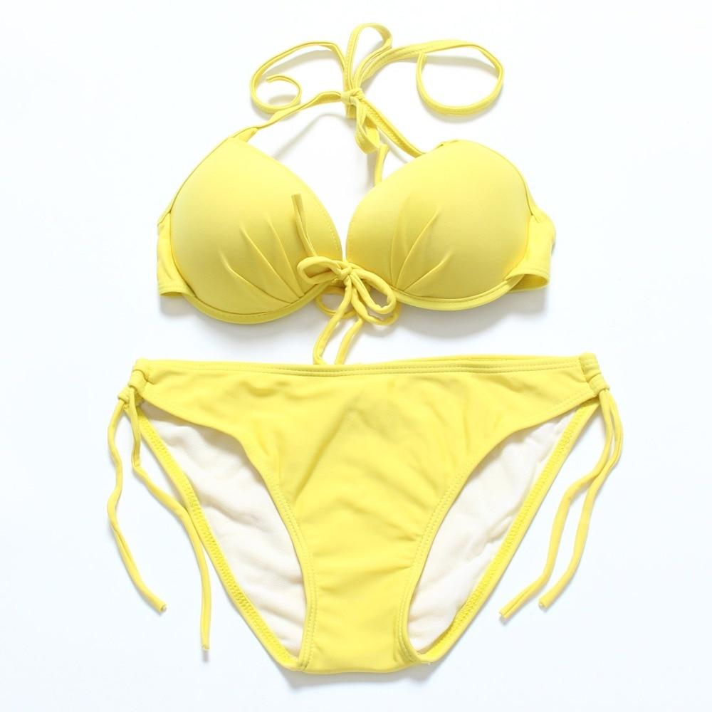 Trangel Bikini Push Up Swimwear Women 2019 Swimsuit Swimming Suit For Women Swimwear Separate Swimsuit Micro Bikini Set Monokini