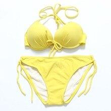 Trangel Bikini Push Up Swimwear Women 2019 Swimsuit Swimming Suit For Separate Micro Set Monokini