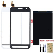For Samsung Galaxy Xcover 3 XCover3 G388 SM-G388F Touch Screen Digitizer Sensor LCD Display Replacement with Back Sticker цена