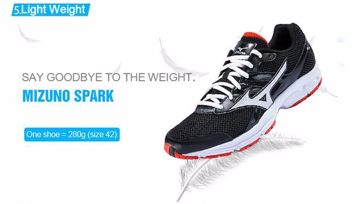 MIZUNO Men SPARK Mesh Breathable Light Weight Cushioning Jogging Running Shoes Sneakers Sport Shoes K1GR160370 XYP303 7