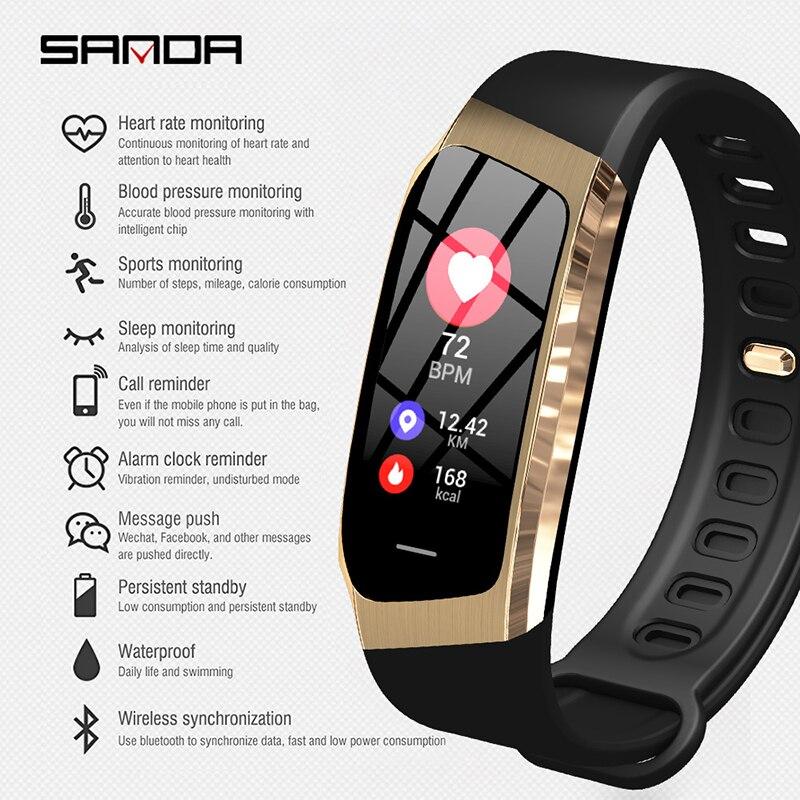 Спорт Multi function браслет для смарт часов напоминание о вызове usb часы мужские часы пульсометр напоминание о вызове будильник на запястье - 3