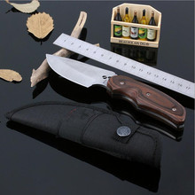 58RHC Straight Fixed Blade Mini Knife Outdoor Survival Camping 7CR17MOV Knife Diving Stainless Steel Tactical Wood Knife 23