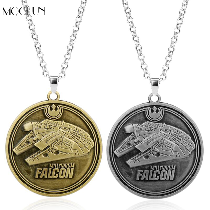 MQCHUN Jewelry Star Wars Millennium Falcon Necklace Spaceship Battleship Game The Force Awakens Spacecraft Pendants Necklaces