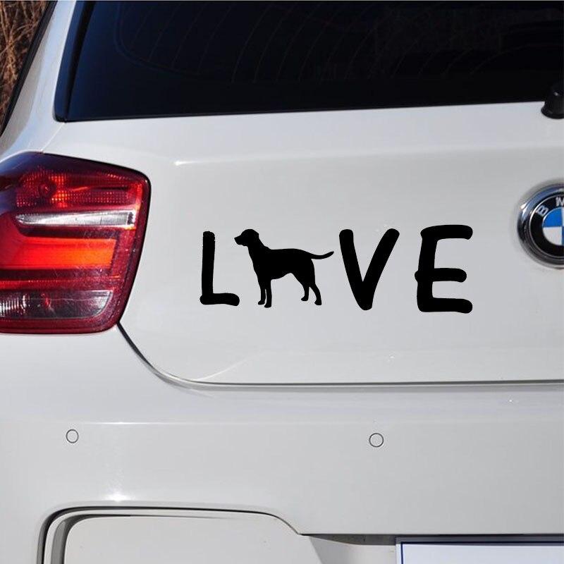 2PCS Girl with Dog Sticker Car Window Door Windscreen Bumper Surf Vinyl Decal