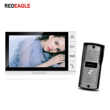 REDEAGLE Wired 9 inch TFT Big LCD Monitor Video Door phone Intercom System Night Vision Call Security Camera