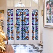 Stained glass window film Static window sticker Glass Film Sticker privacy Home Decor decorative  45/90x200cm17.7/35.4x78.7in цена