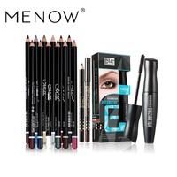 MENOW Make Up Set Mascara Two Eyeliner Pencil Amp 12 Colors Eyeliner Waterproof Lasting Eyes Cosmetics