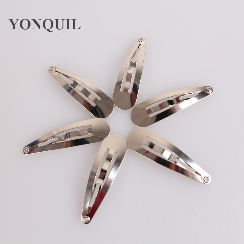 Free shipping Good quality 50mm Iron Snap Hair Bow Clips DIY hats Hairpins girl Clips BB clips DIY Hair Accessories 300pcs/lot
