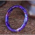Natal 10x13mm Do Sul Africano Natural Sugilite Pedra Moda Retângulo Beads Mulheres Jóias Charme Estiramento Pulseira do Sexo Feminino