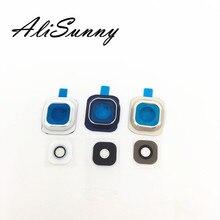 AliSunny 10pcs Rear Back Camera Lens Cover + Glass for SamSung S6 S6 Edge G925F G925F