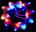 10pcs/lot New fashion luminous led tie toys night glowing necktie flash bow tie toy for event party supplies lighting cravatta