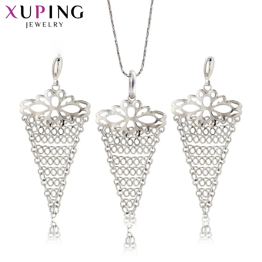 Capable Xuping Fashion Temperament Simple Jewelry Sets Environmental Copper For Women Thanksgiving Day Gift S72,6-62690 Jewelry Sets