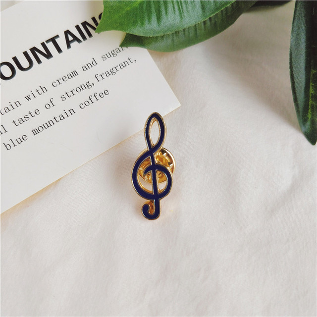 Moda Musicial Note Yeah gest błyskawica strzałka broszka emaliowana dla miłośnicy muzyki Jeans Collar Pins broszka prezenty dla dzieci