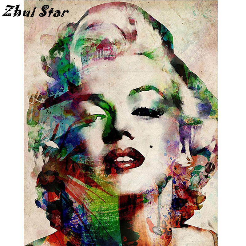 NEW Full Square Diamond 5D DIY Diamond Painting Colorful Marilyn ... 304741aebf93
