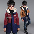 Top quality New Boys Winter Coat Fashion Double Breasted Solid Navy Green Red Khaki Kids Nizi Coats Jacket Boys Children Outerwe