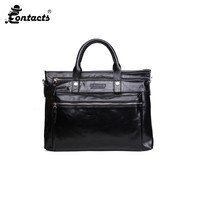 CONTACT S MB020 2017 Business Men Briefcase Shoulder Bag Fashion Designed Men S Bags Casual Briefcase