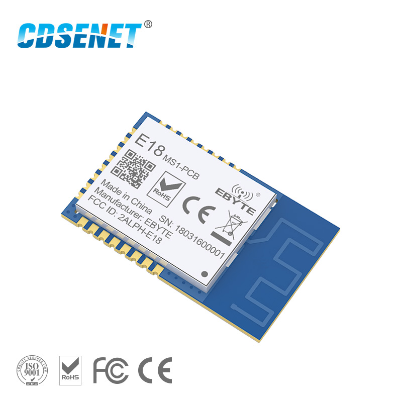 Zigbee 2.4GHz CC2530 Core Board SMD Wireless Rf Module CDSENET E18-MS1-PCB SPI Transmitter Receiver With Shield PCB IPX Antenna