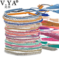 Multi Colorful Bracelets Bangles Boho Seed Beads Jewelry Summer Beach Female Tassel Bracelet Friendship Bracelets for Woman