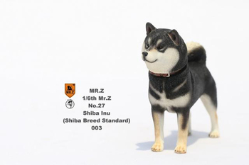 1/6 Figure Scene accessories Mr.Z Dog Animal Model MRZ027-003 Japanese Shiba Inu with Double Heads Sculpt Model for Collection