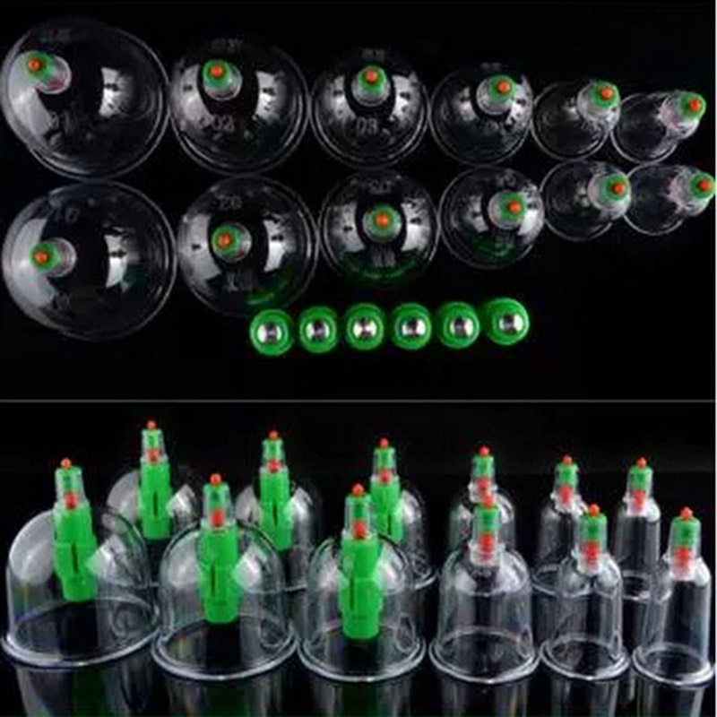 12Pcs Vacuum Cupping Device Suction Cup Set Magnetic Therapy Cylinders Body Healthy SN-Hot povihome 12pcs cupping device acupuncture suction cup set massage cup magnetic therapy vacuum cups tank gas cylinders c839