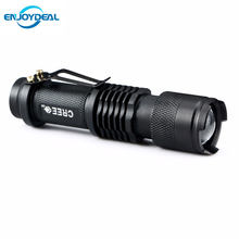 New Mini Flashlight 2000 Lumens CREE Q5 LED Torch AA/14500 Adjustable Zoom Focus Torch Lamp Penlight Waterproof For Outdoor(China)
