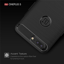 цена на Oneplus 5 One Plus 5T Case Brushed Carbon Fiber Soft Silicone TPU Skin Back Cover Phone Case for Oneplus 5 One Plus 5T Oneplus5