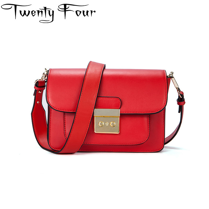 Twenty-four Fashion Woman Flap Bags Ladies Small Handbag Women Golden Lock Shoulder Bag Women Clutch Purse Bolsas Femininas Sac
