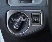 Auto inerior accessories, light switch button trim sticker for volkswagen vw golf MK7 2014 2015, car styling