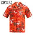 Camisas havaianas salmão algodão plus size camisa dos homens camisas para os homens marca de alta qualidade do vestido extravagante clothing vetement homme