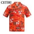 Hombres camisas hawaianas salmón algodón camisa más del tamaño de alta calidad de lujo camisas de vestir para hombre marca clothing vetement homme