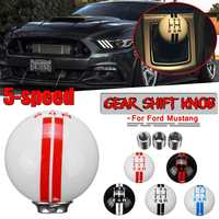 Carro Universal 5 Engrenagem Speed Shift Knob Para Ford Mustang 5 Renault Para Mercedes Car Deslocamento de Engrenagem Knob Tampa velocidade